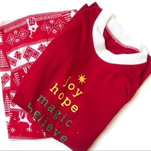 Christmas Holiday Long Sleeve Two Piece Pajamas